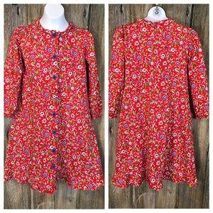 Hannah Andersson Floral Print Dress 130(8)